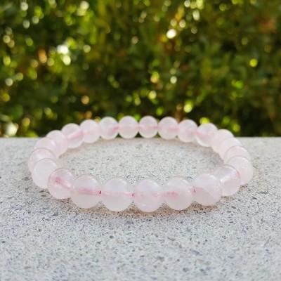 Rose Quartz Round Stretch Bracelet