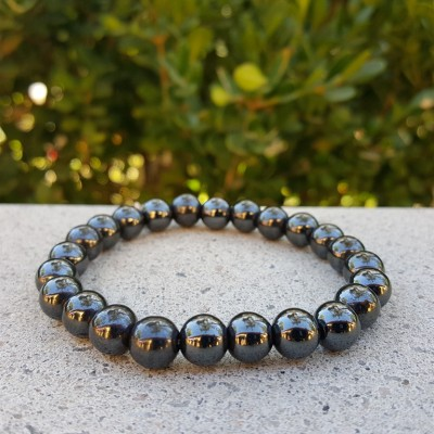 Hematite Round Bracelet