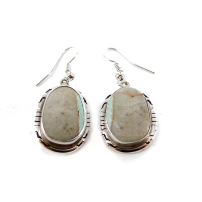 Boulder Turquoise Sterling Silver Dangle Earrings