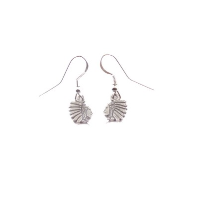 Chief Small Sterling Silver Dangle Earrings