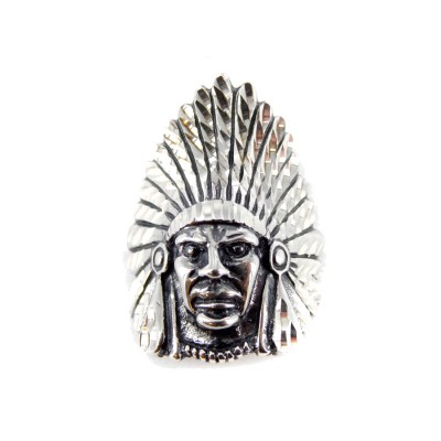 Chief Sterling Silver Pendant
