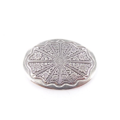 Floral Concho Oval Belt Buckle