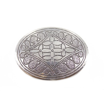 Flower Oval Belt Buckle
