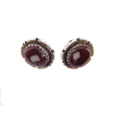Wild Horse Oval Sterling Silver Stud Earrings