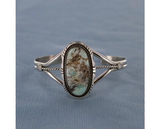 Oval Dry Creek Sterling Silver Cuff Bracelet