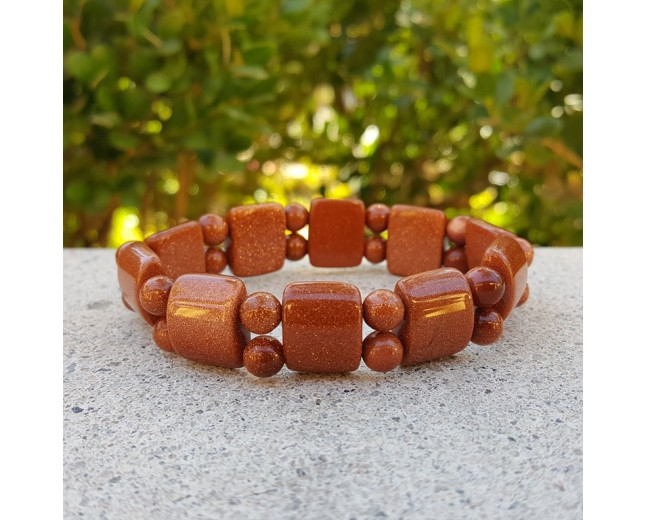 Goldstone Stretch Bracelet
