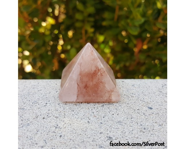 Fire Quartz Pyramid