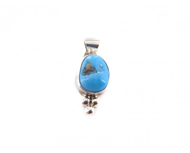 Kingman Turquoise Classic Sterling Silver Pendant