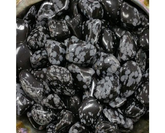 Snowflake Obsidian Tumbled Stone