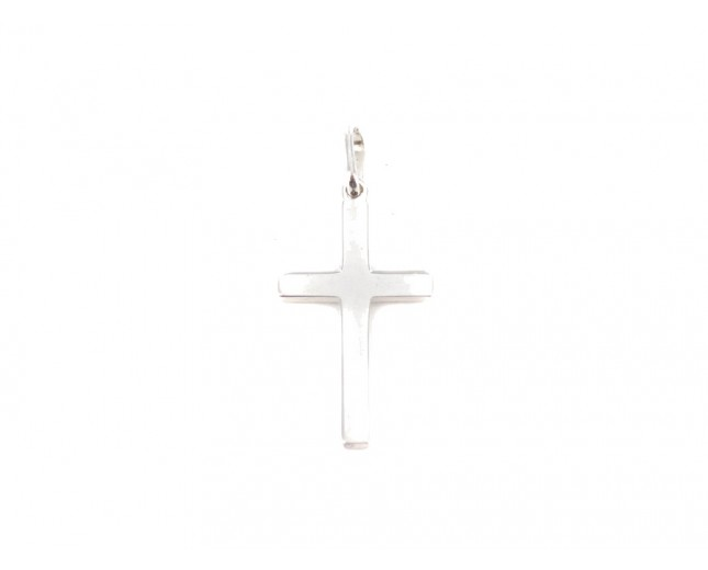 Silver Solid Cross Sterling Silver Pendant