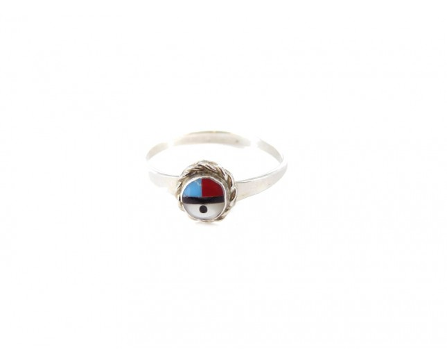 Sunface Sterling Silver Ring