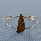 Soft Triangle Roystone Turquoise Sterling Silver Cuff Bracelet