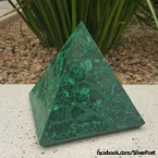 Green Malachite Pyramid