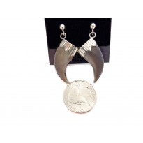 Genuine Bear Claw Sterling Silver Stud Earrings