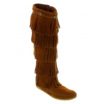 1652 Brown 5-Layer Fringe Minnetonka Moccasins