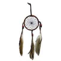 2.5 Inch Leather Wrapped Dreamcatcher
