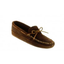 723 Brown Double Bottom Softsole Minnetonka Moccasins