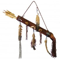 Deerskin Covered Quiver With Arrows