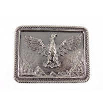 Flying Eagle Large Rectangle Belt Buckle