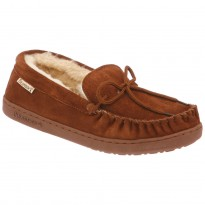 Black Sheepskin Lined Bearpaw Moccasins