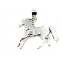 Polished Sterling Silver Horse Pendant