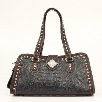 Nocona Ladies Black and brown doctor style bag