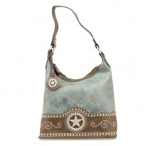 Nocona Women's Leather Shoulder Bag Blue