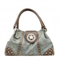 Nocona Blue Faux Leather Shoulder Bag