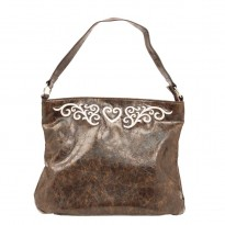 Nocona Western-influenced Brown Faux Leather Purse