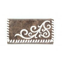 Nocona Western-influenced Brown Faux Leather Wallet