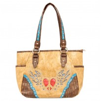 Nocona Women's Trendy Faux Leather Tote Tan