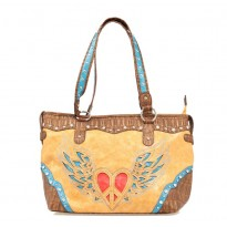 Nocona Trendy Tan Faux Leather Tote