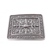Scroll Large Rectangle Belt Buckle