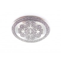 Scroll Oval Belt Buckle