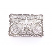 Tripple Stars Rectangle Belt Buckle