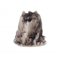 Wolf Family Horse Hair Pottery