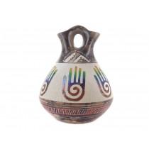Hand of Healing Wedding Vase Rainbow Horse Hair Pottery