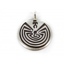 Man In The Maze Sterling Silver Pendant