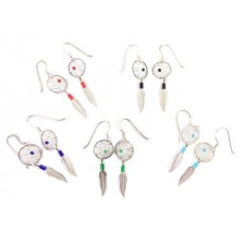 Dreamcatcher Sterling Silver Dangle Earrings