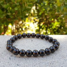 Garnet Round Stretch Bracelet