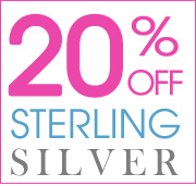 20% Off Sterling Silver