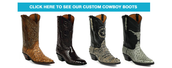 Custom Cowboy Boots: Exotic Skins, Great Look, Perfect Fit