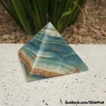 Argentinian Blue Calcite Pyramid