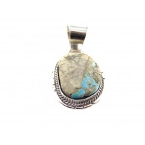 Boulder Turquoise Sterling Silver Pendant